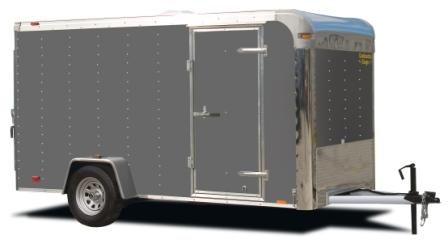 Single Axle Enclosed Cargo Trailer