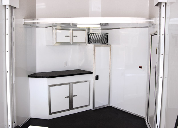 Trailer V-Nose Cabinetry