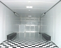 Black & White Checkerboard Trailer Flooring