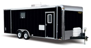 Black Trailer With RV Door