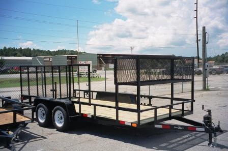 Basket for trailer lawnsite for Garden maintenance trailer