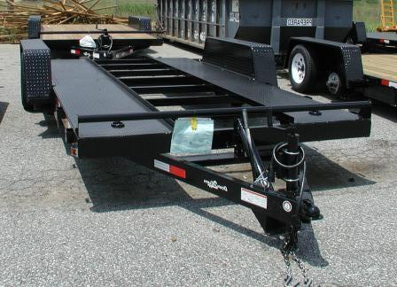Power Tilt Car Hauler Trailer / Electric Over Hydraulic Operation
