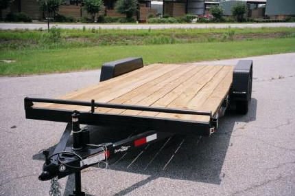 Ball Hitch Wood Deck Car Hauler Trailer