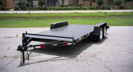 Ball Hitch Steel Deck Car Hauler Trailer