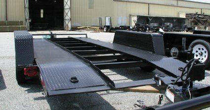 Ball Hitch Steel Runner Deck Car Hauler Trailer