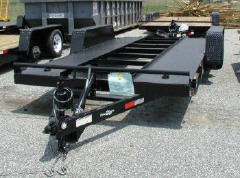 Tilt Car Hauler Trailer / Manual Hydraulic Operation