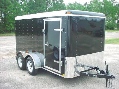 7x12 Enclosed Trailer Tandem Axle Cargo Trailer Trailer