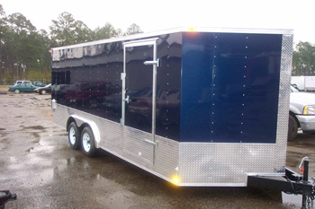 8x16 Enclosed Trailer 8 X 16 Cargo Trailers The Trailer