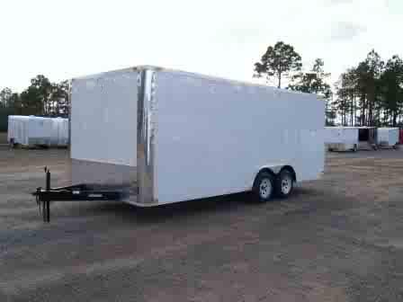 8 5x18 Car Hauler Enclosed Car Trailer Trailer Showroom