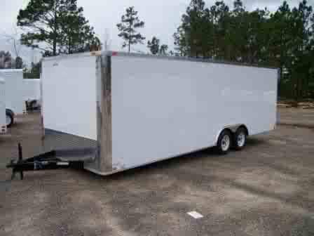 8 5x34 Car Hauler Enclosed Car Trailer Trailer Showroom
