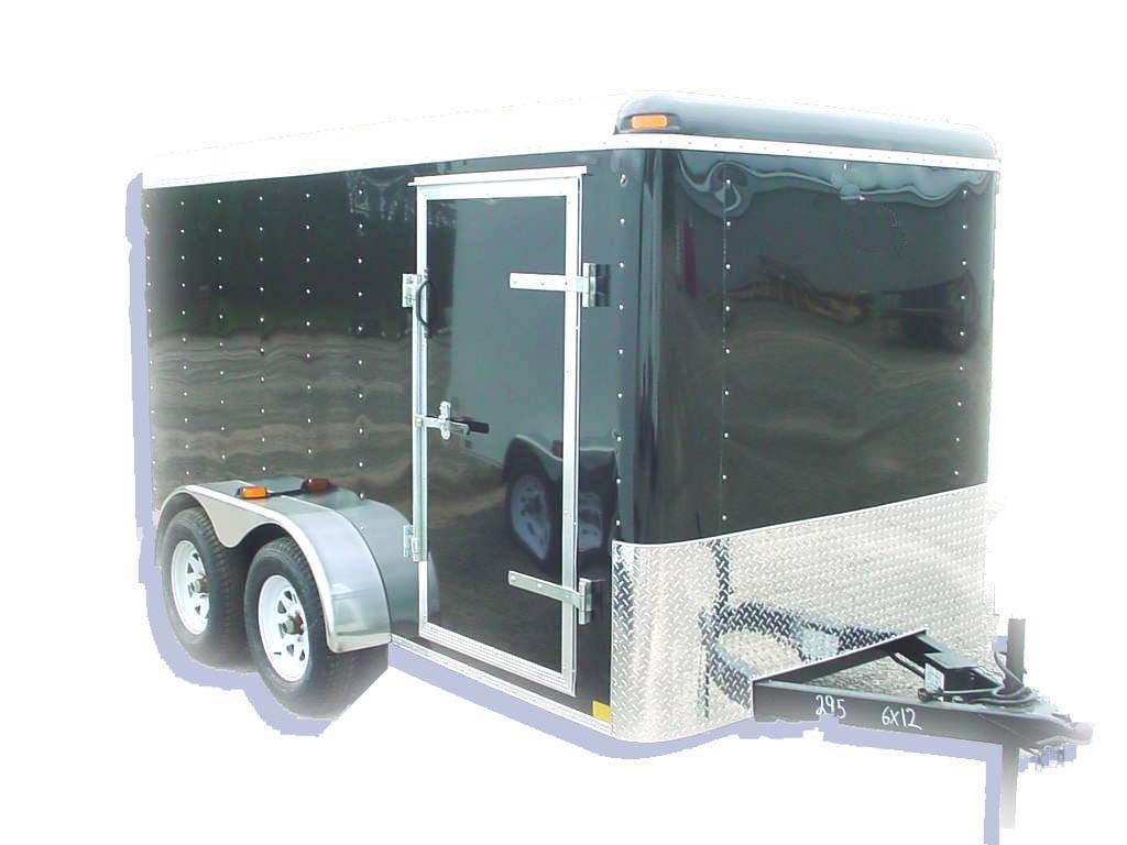 Cargo Trailer Fenders : Enclosed trailer tandem axle cargo