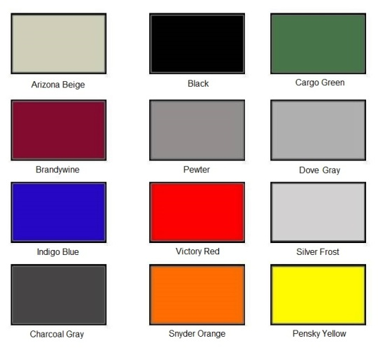 Cargo Trailer Color Choices