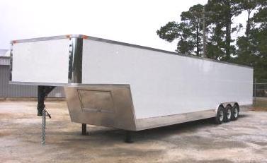 8 5x38 Enclosed Gooseneck Car Trailer Tri Axle Georgia