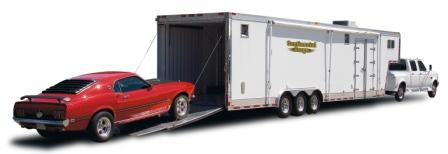 Gooseneck Enclosed Cargo And Car Trailer