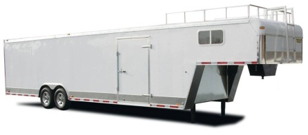 5th Wheel Enclosed Cargo And Car Trailer