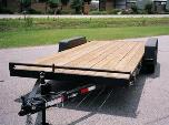 Open Deck Car Hauler Cargo Trailer