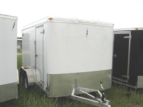 7X12 Tandem Axle Aluminum Enclosed Cargo Trailer