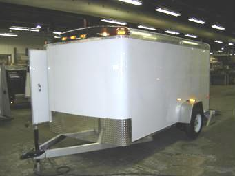 6X10 Single Axle Aluminum Enclosed Cargo Trailer